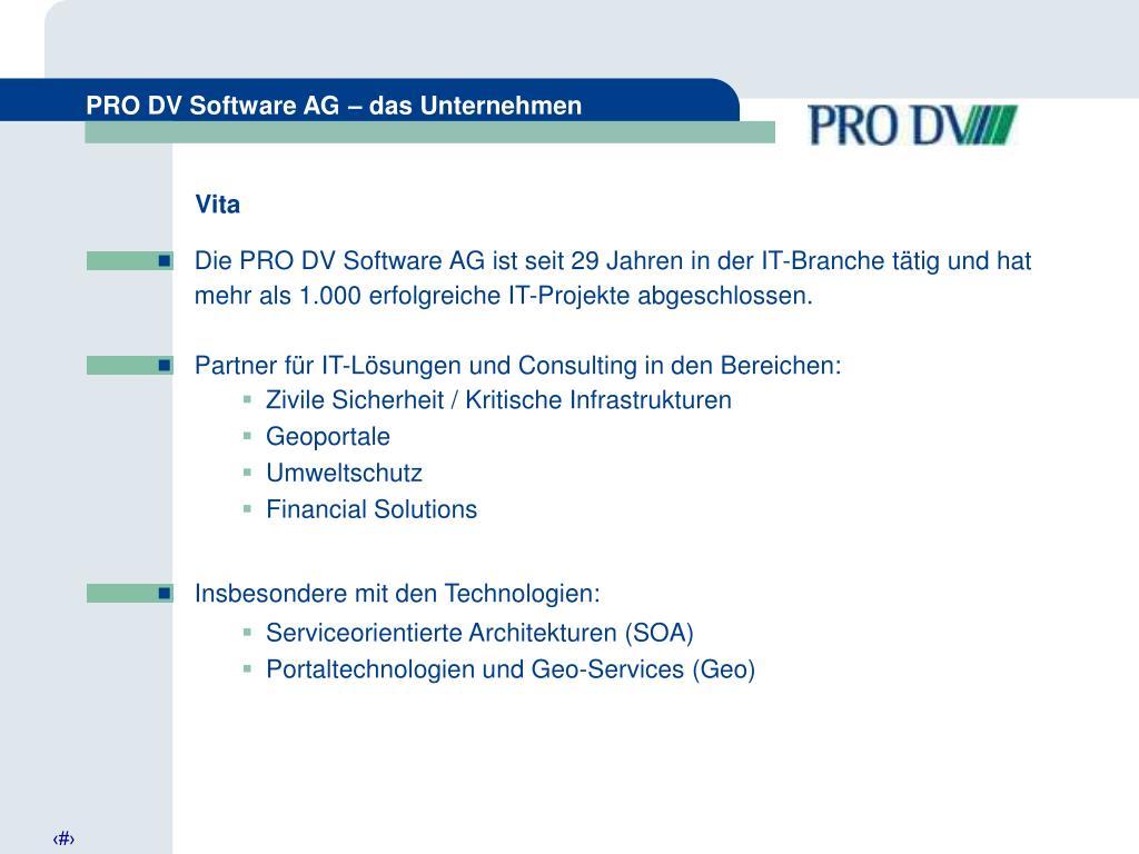 PRO DV Software AG – das Unternehmen