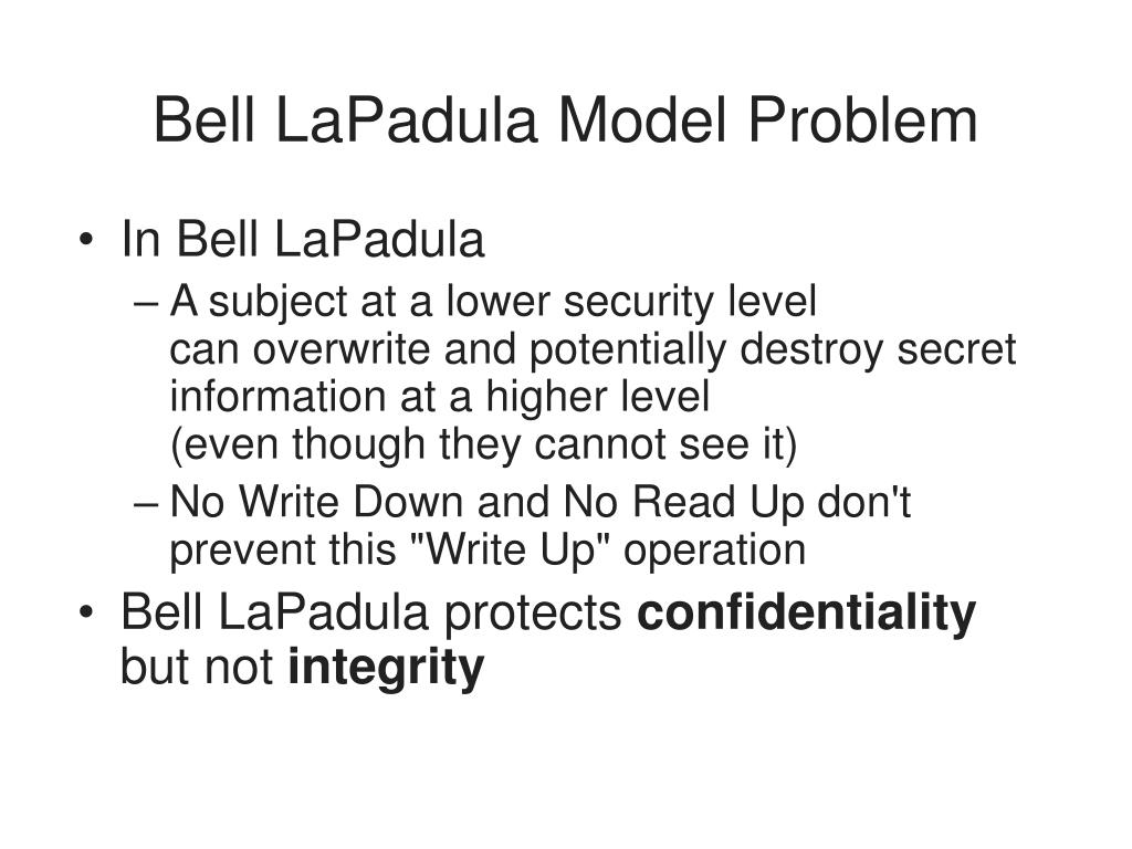 Bell LaPadula Model Problem