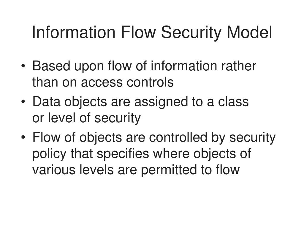 Information Flow Security Model