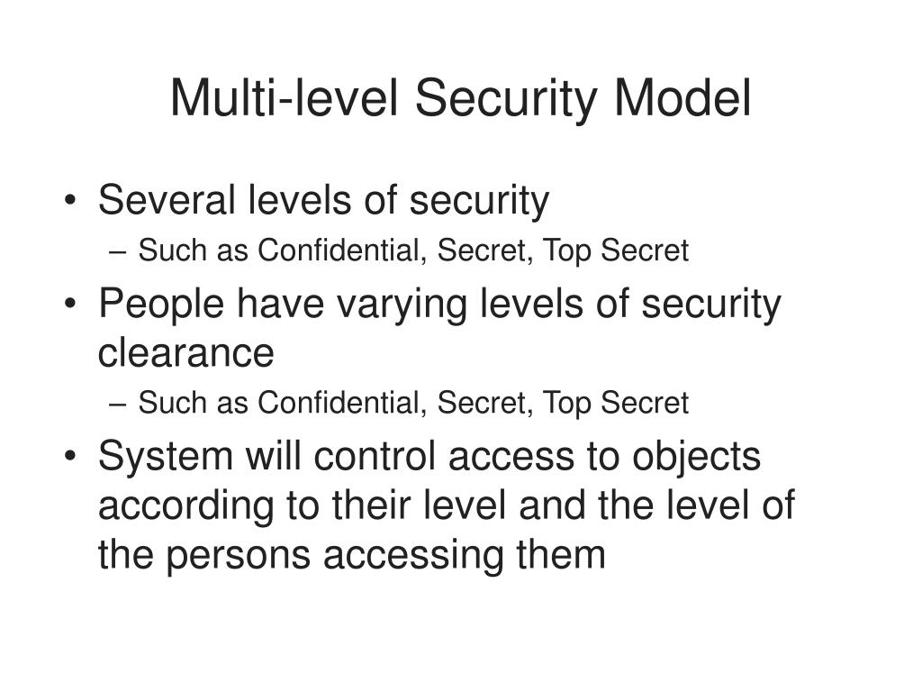 Multi-level Security Model