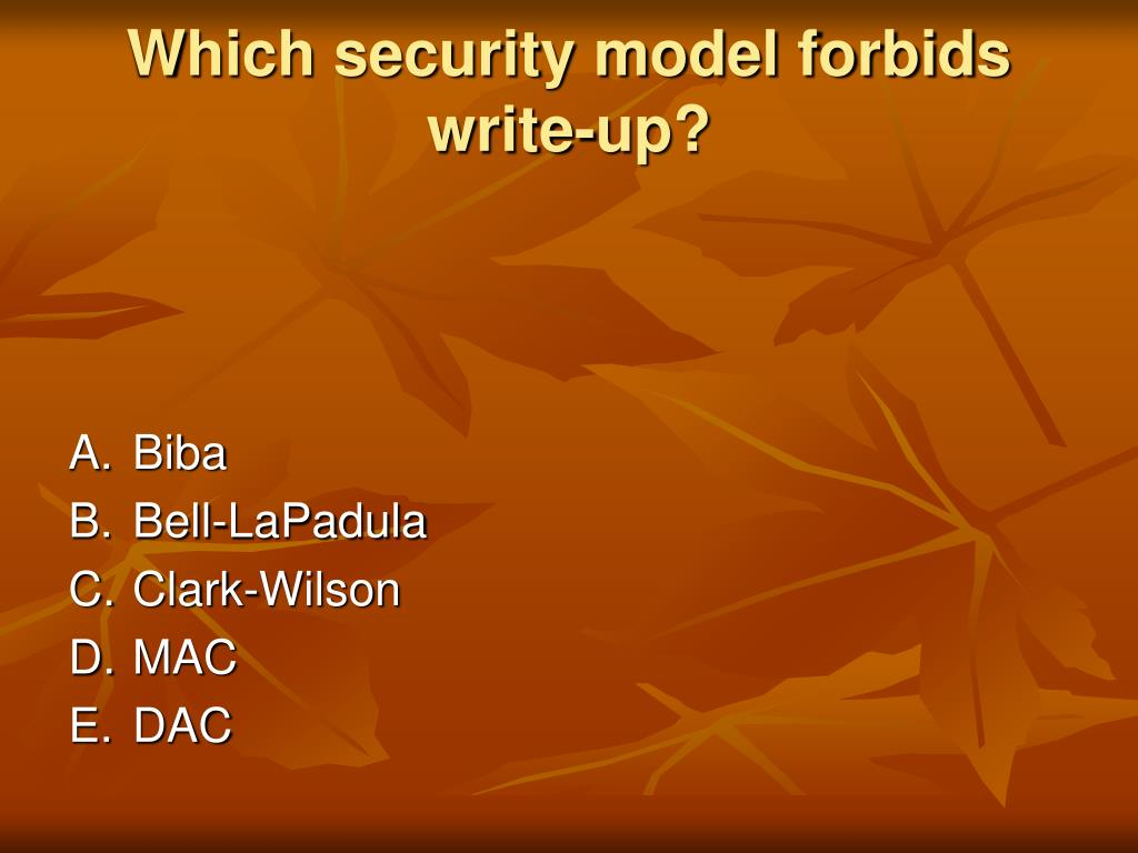 Which security model forbids write-up?