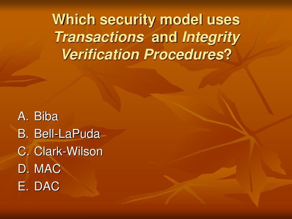 Which security model uses