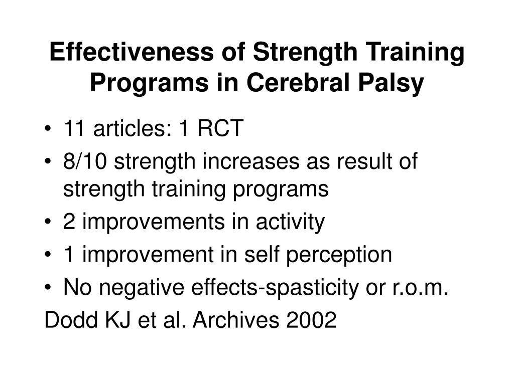 a training program for a student with cerebral palsy