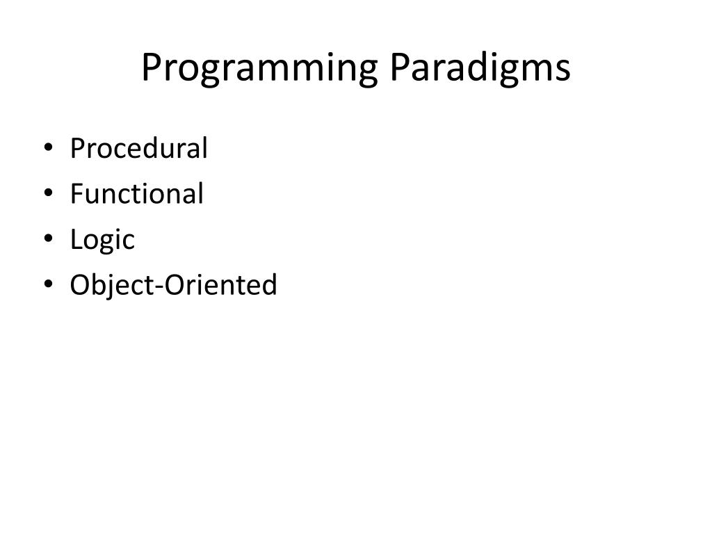 p1 programming paradigms Unit 06 assignment - software design development 1314 6 object oriented and event driven programming paradigms p1 a report covering how languages are.