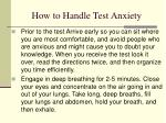 how to handle test anxiety1