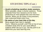 studying tips cont