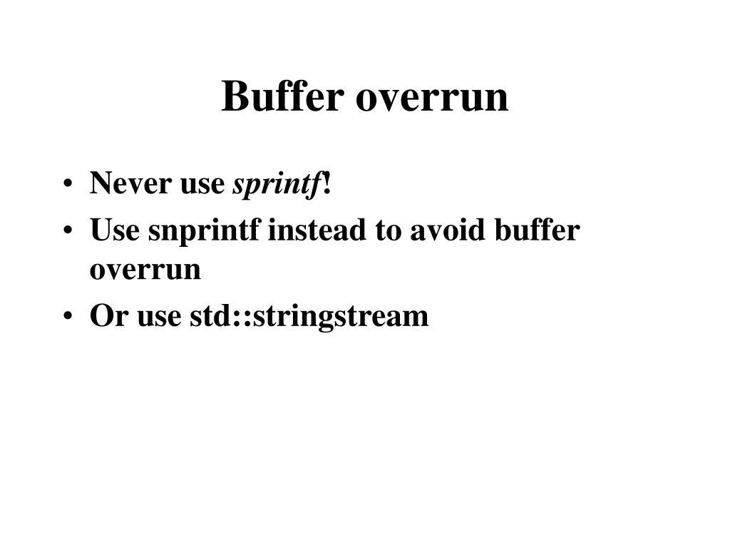 Buffer overrun