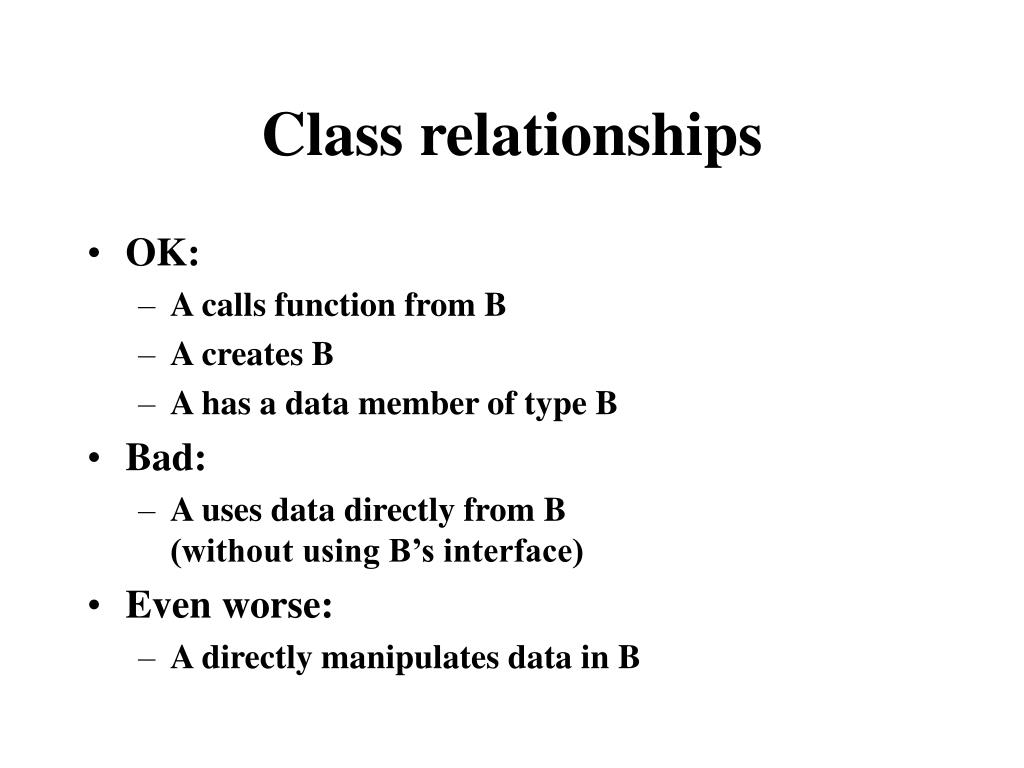 Class relationships