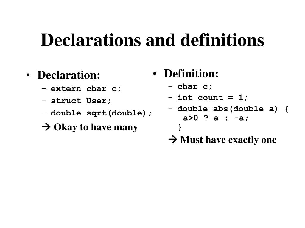 Declaration: