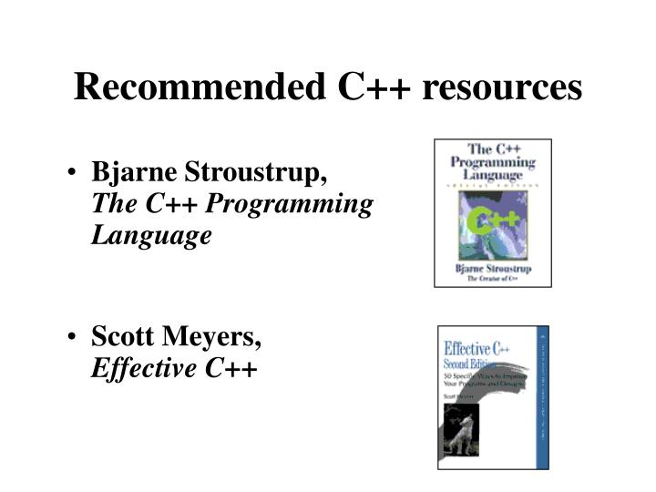 Recommended c resources l.jpg