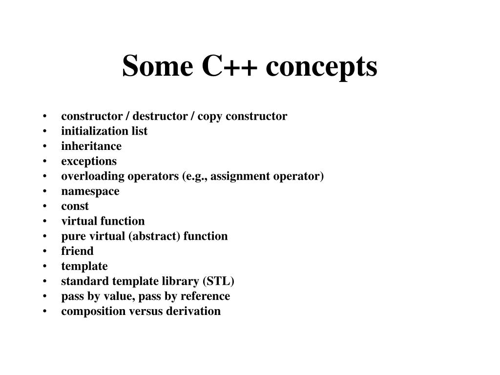 Some C++ concepts