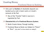 creating money fractional reserve banking
