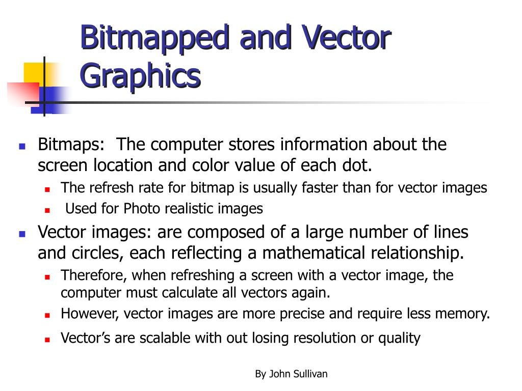 Bitmapped and Vector Graphics