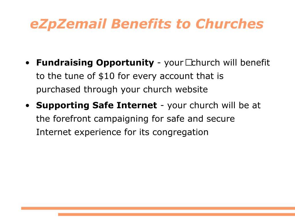 eZpZemail Benefits to Churches