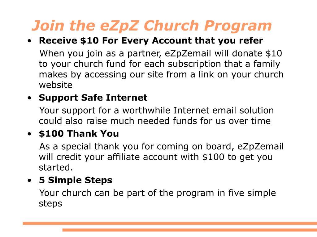 Join the eZpZ Church Program