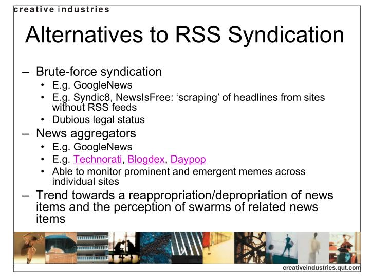 Alternatives to RSS Syndication