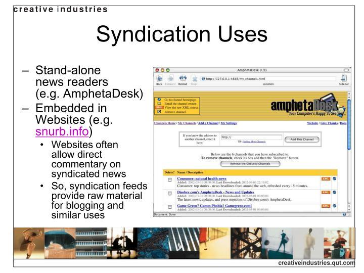 Syndication Uses