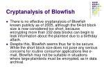 cryptanalysis of blowfish