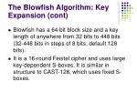 the blowfish a lgorith m key expansion cont