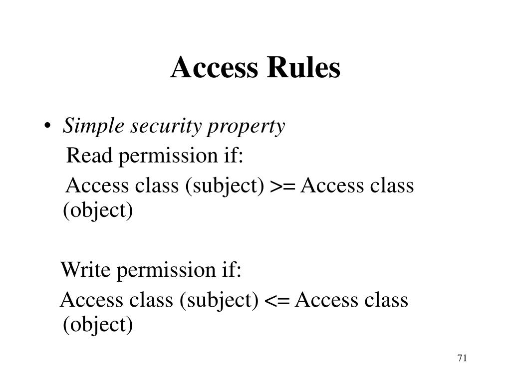 Access Rules