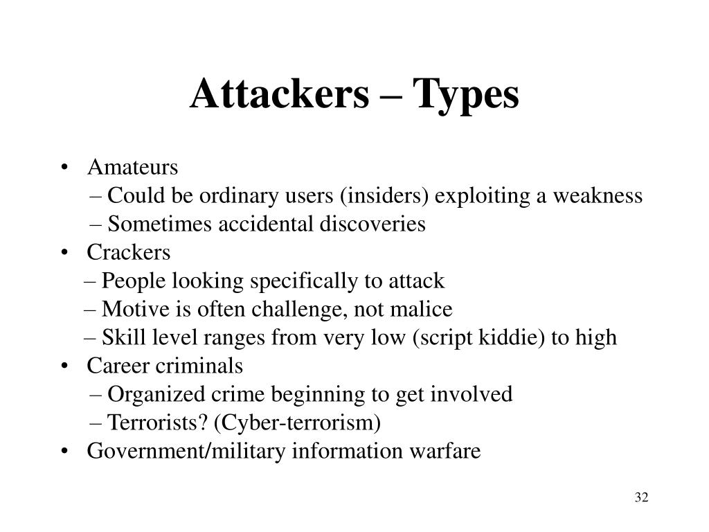 Attackers – Types