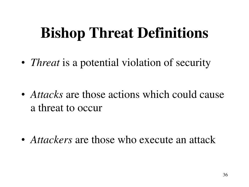 Bishop Threat Definitions