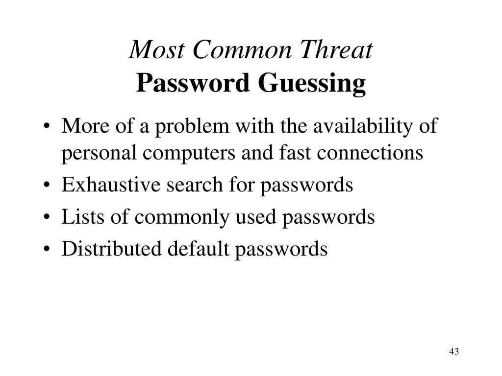 Most Common Threat