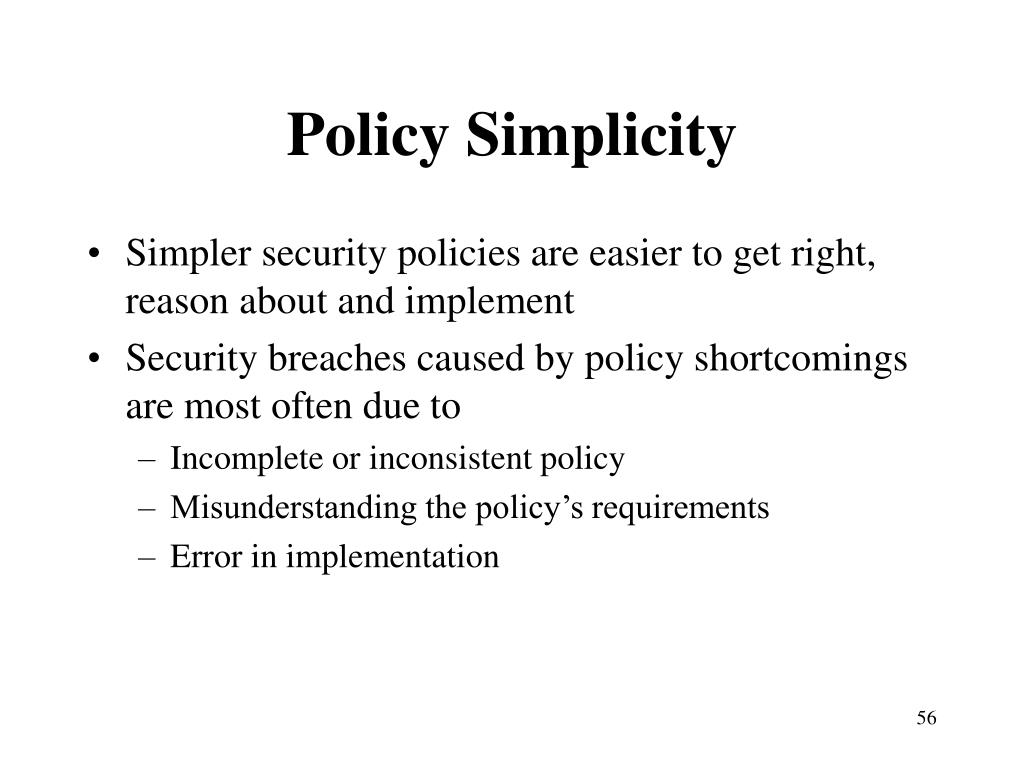 Policy Simplicity