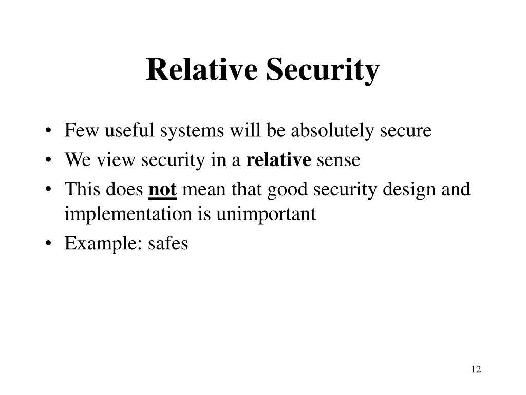 Relative Security