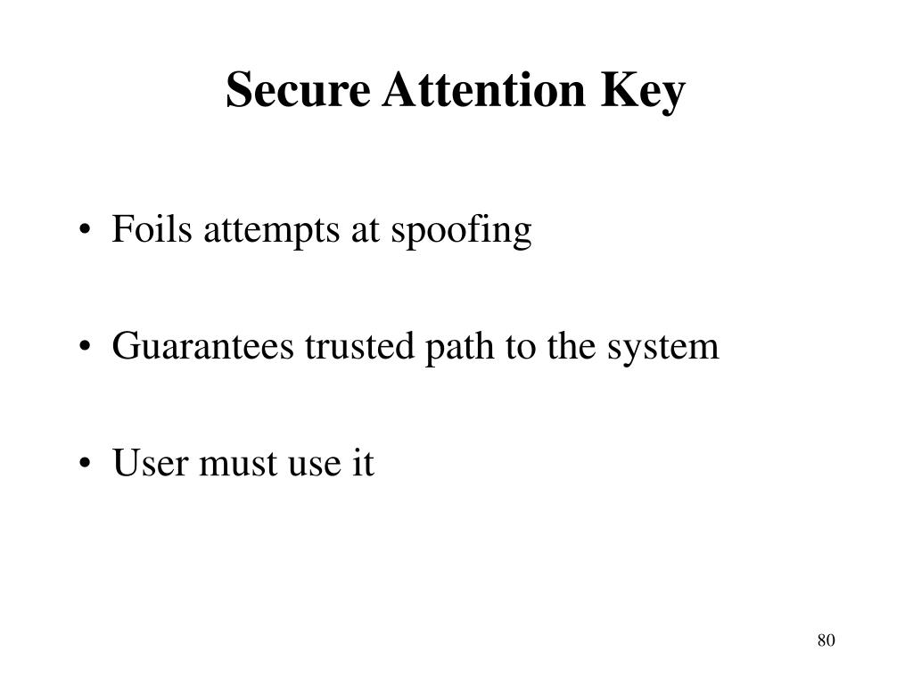 Secure Attention Key