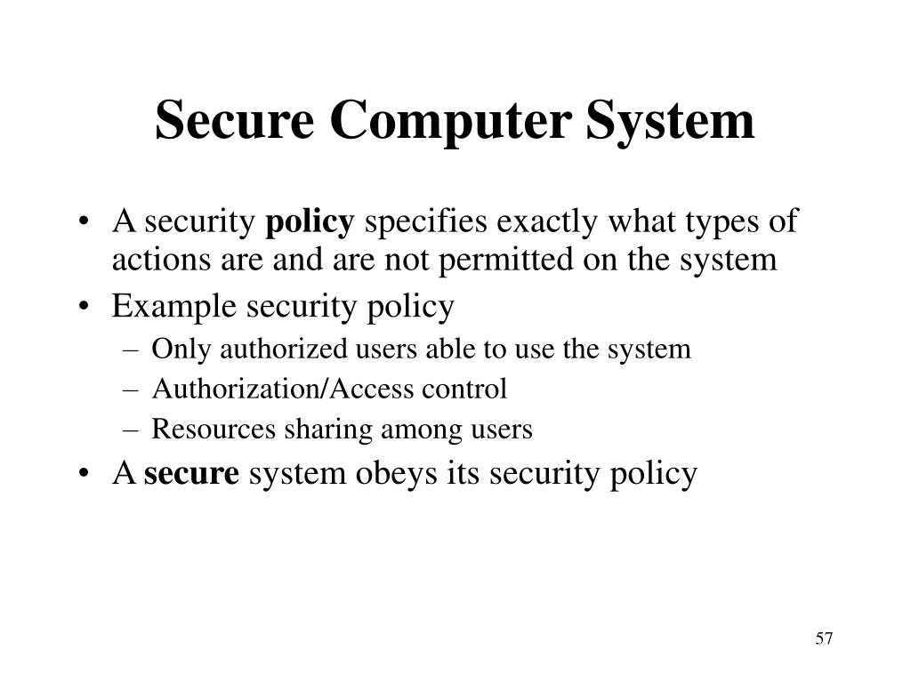 Secure Computer System