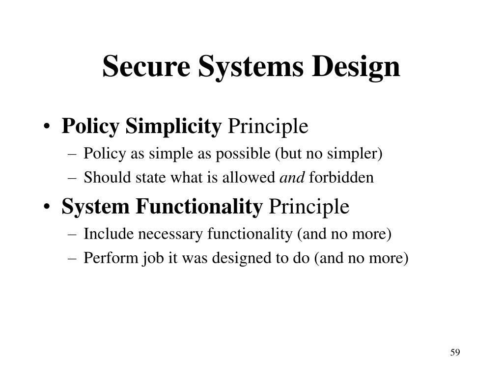 Secure Systems Design