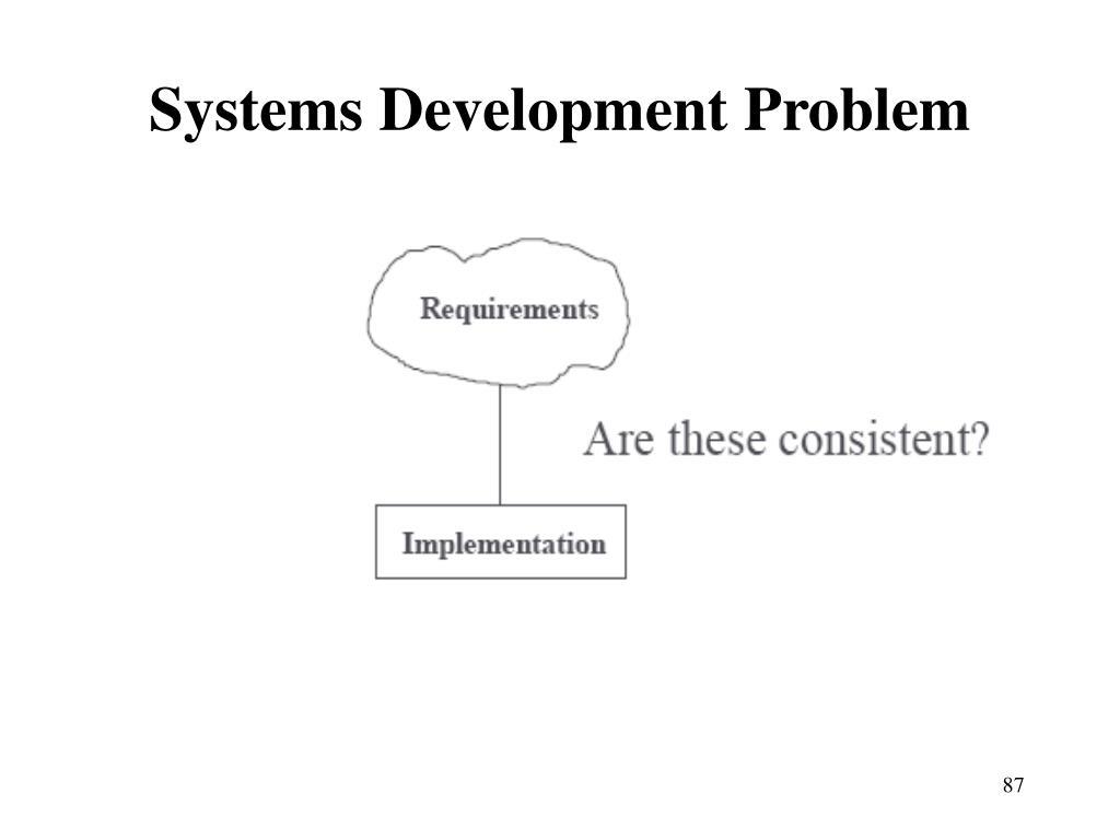 Systems Development Problem