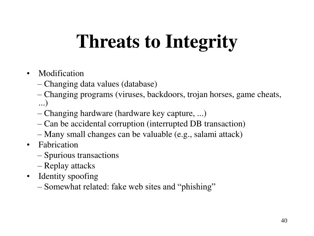 Threats to Integrity