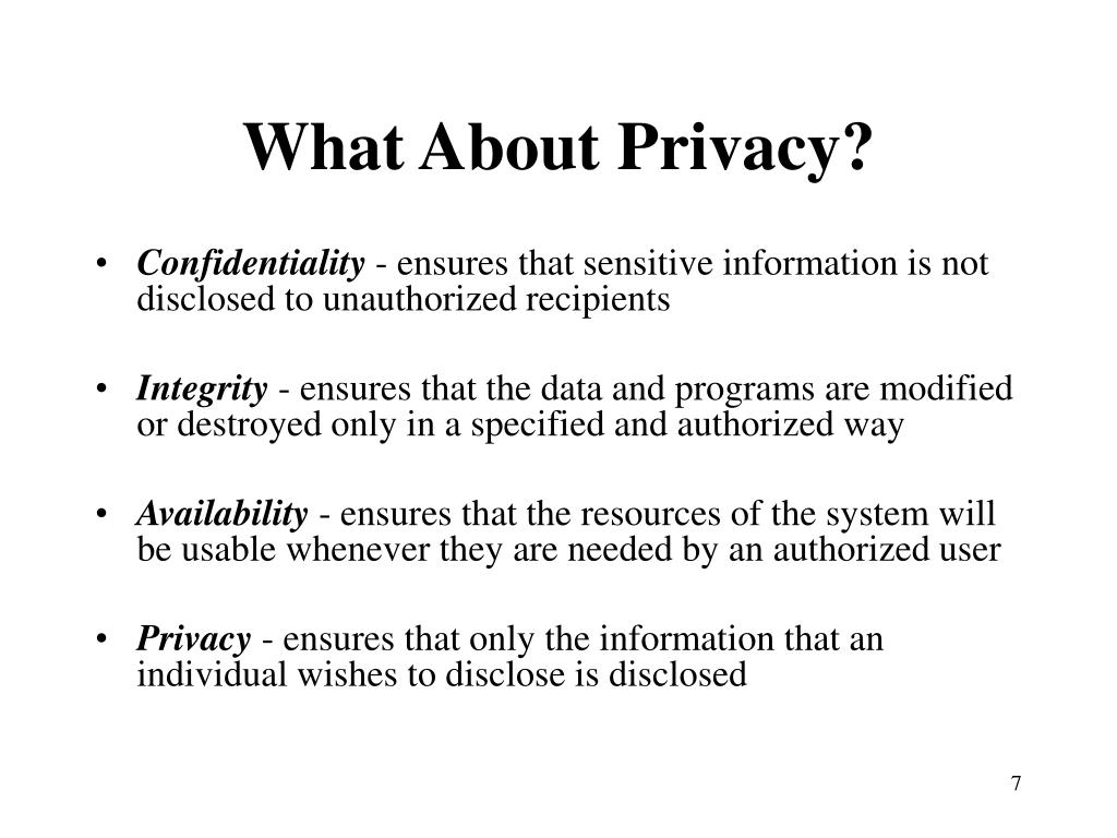 What About Privacy?