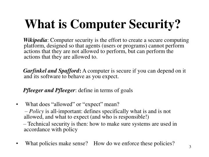 What is computer security l.jpg