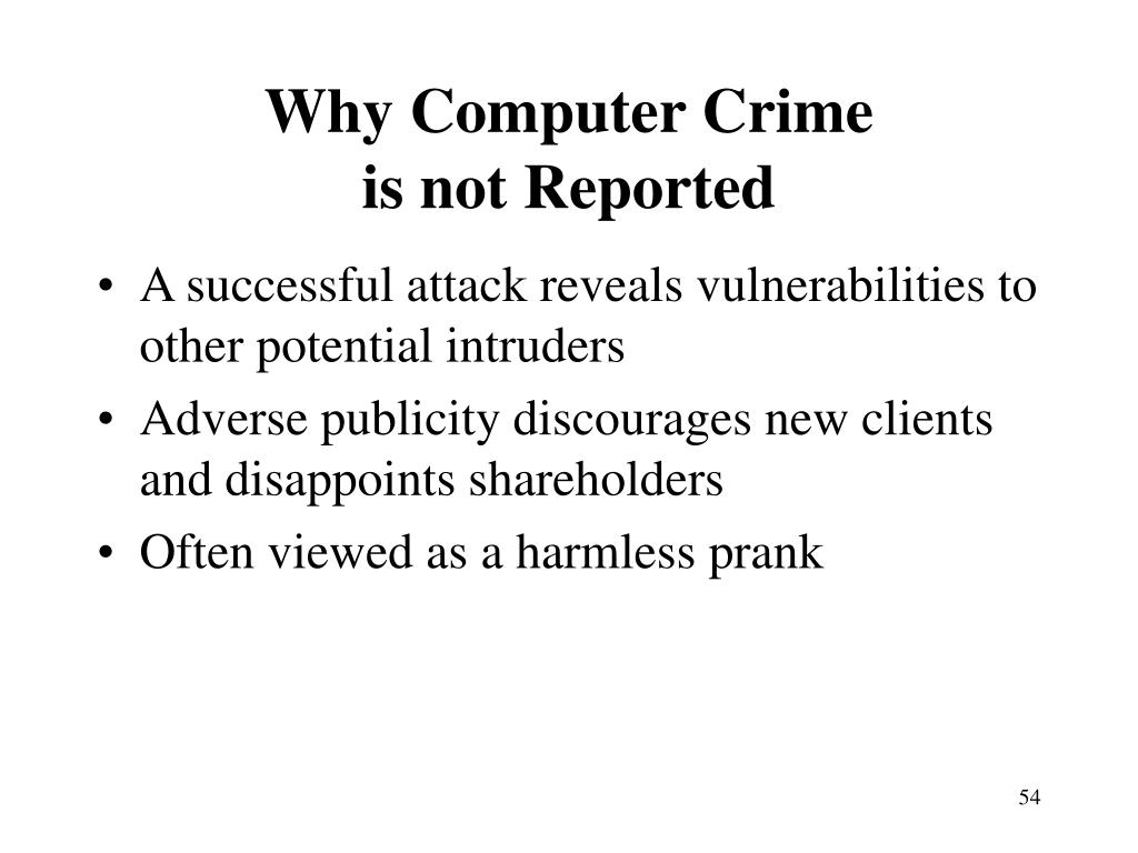 Why Computer Crime