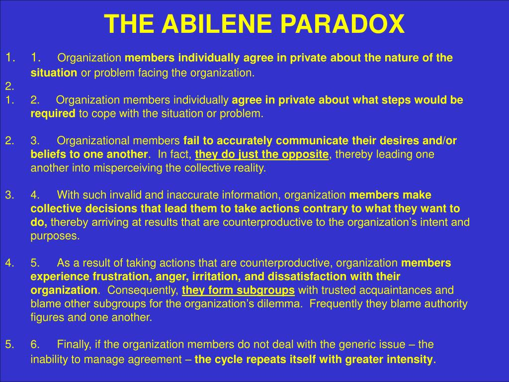 the abilene paradox
