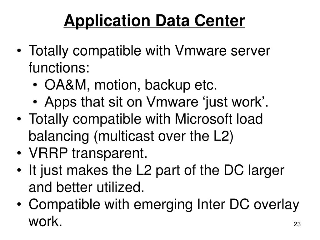 Application Data Center