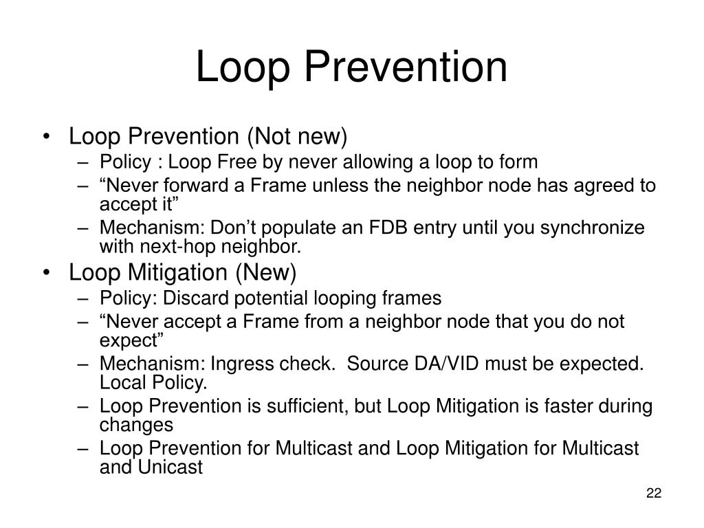 Loop Prevention