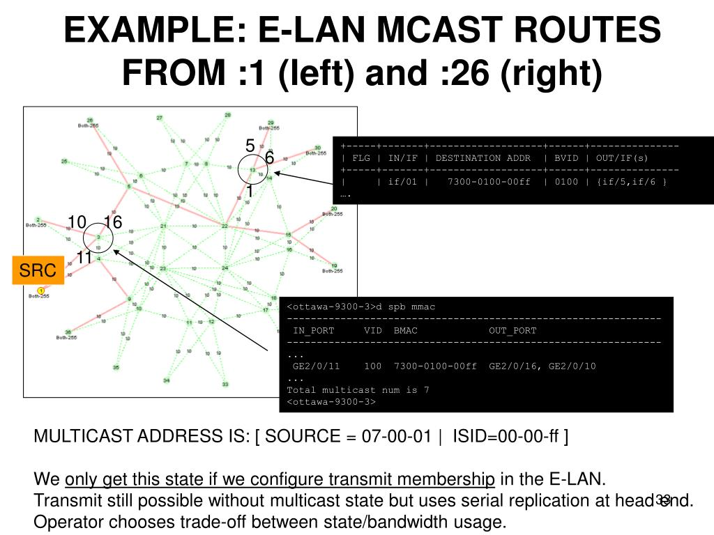 EXAMPLE: E-LAN MCAST ROUTES