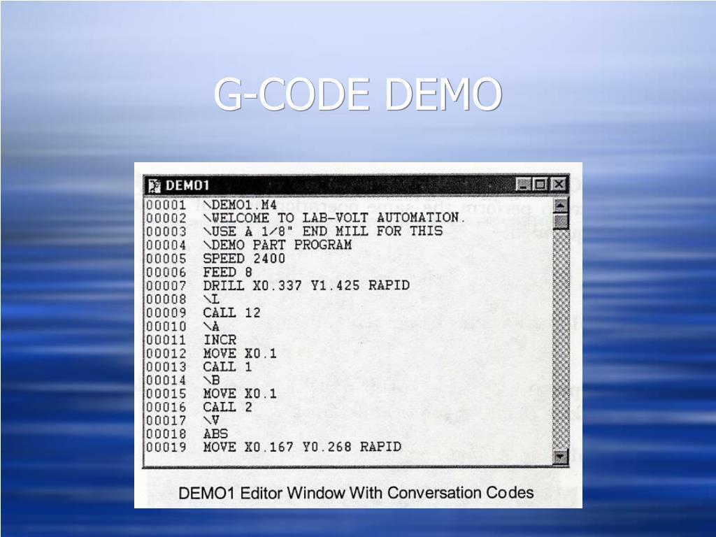 G-CODE DEMO