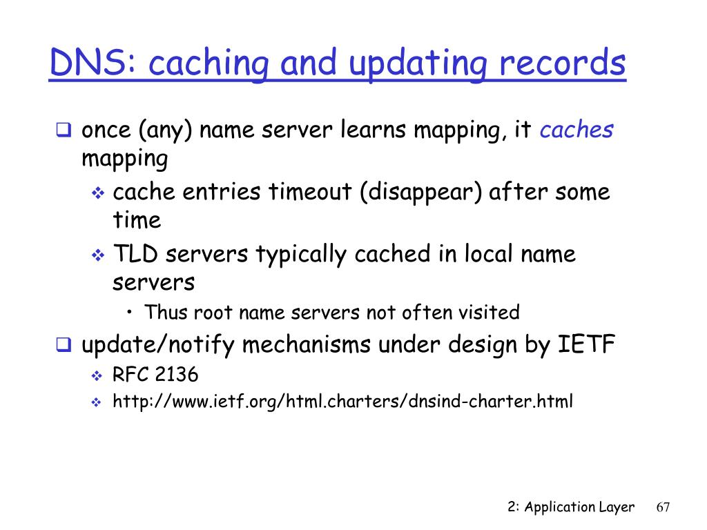 DNS: caching and updating records