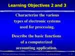 learning objectives 2 and 3