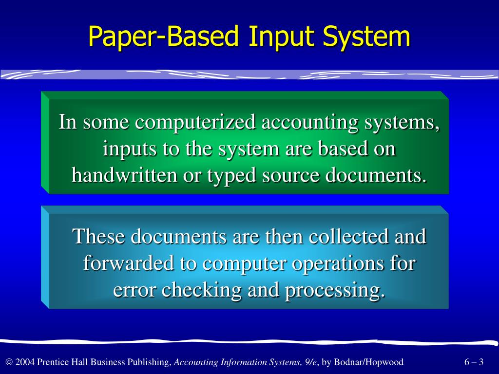 Paper-Based Input System