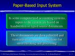 paper based input system