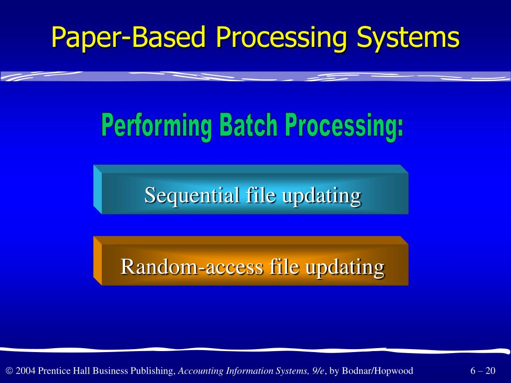 Paper-Based Processing Systems