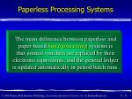 paperless processing systems41