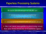 paperless processing systems45