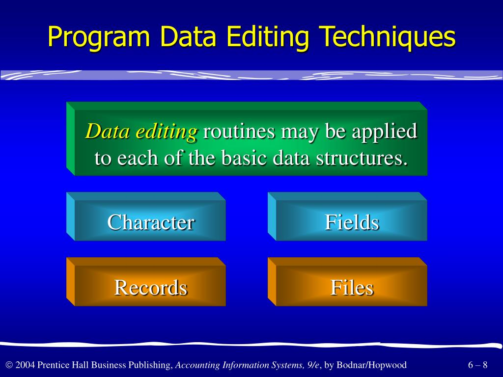 Program Data Editing Techniques